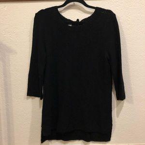 LC Lauren Conrad Black Tunic Sweater